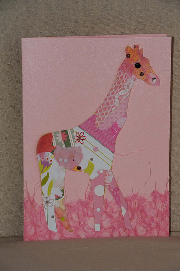 Collaged giraffe